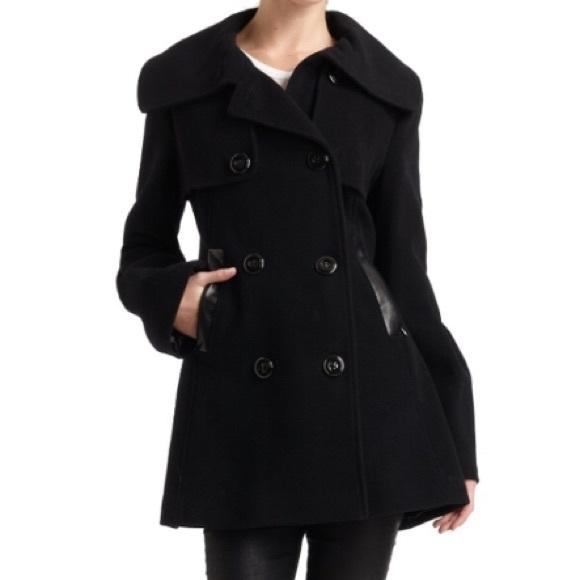 Mackage black wool coat size small